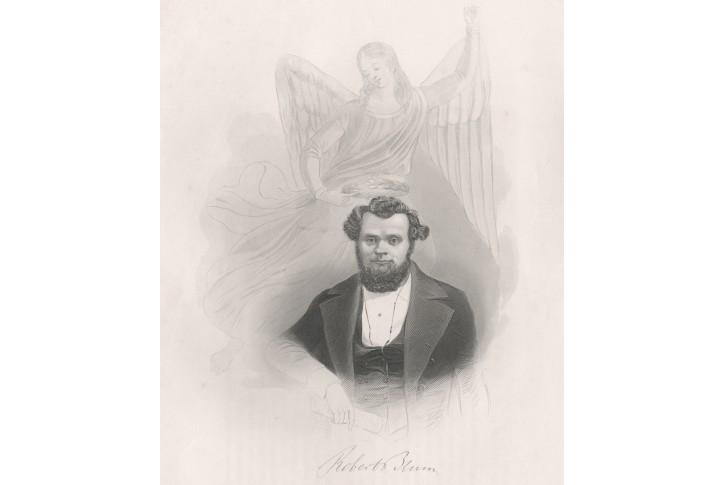 Blum Robert Payne, oceloryt , (1860)