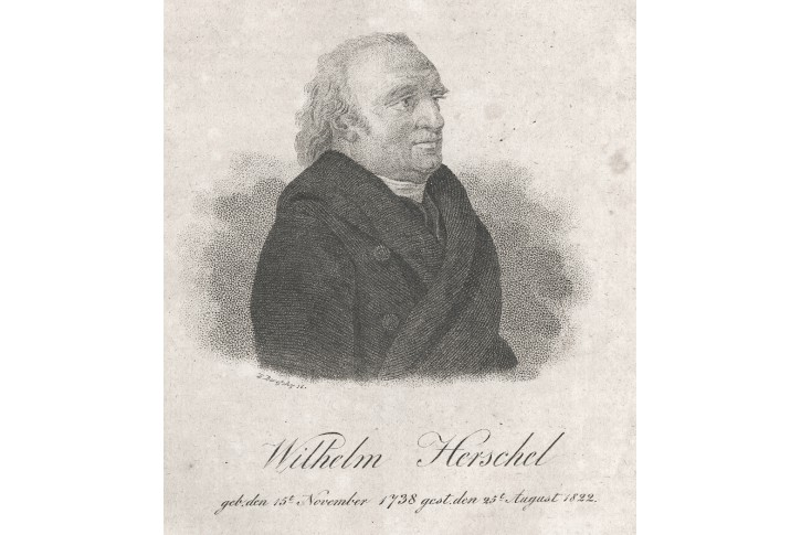 Herschel Wilhelm, mědiryt  , 1828