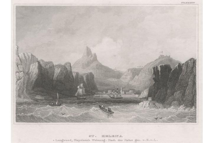 St. Helena, Meyer, oceloryt, 1850