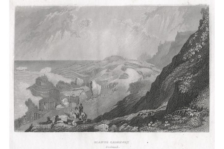 Giants Causeway Irsko, Meyer, oceloryt, 1850