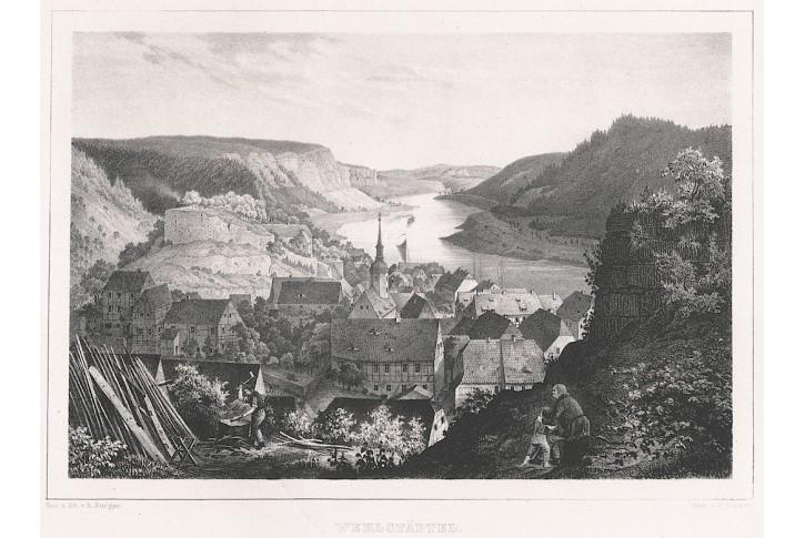 Wehlstädtel, Semmler, litografie, 1845