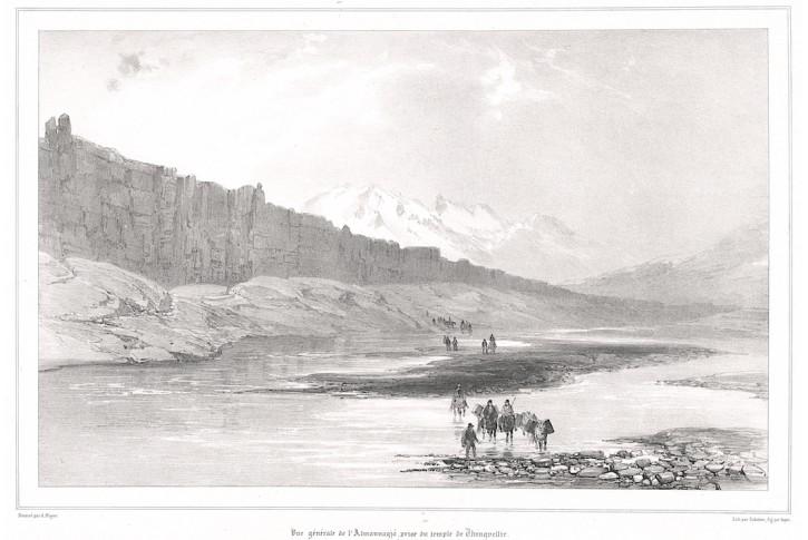 Almannagja Island, Sabatier, litografie, (1860)
