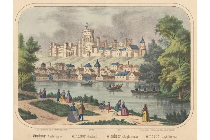 Windsor, kolor. litografie, (1850)